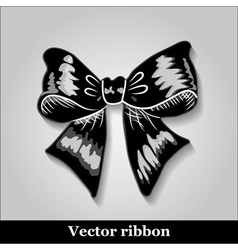 Gift bows with ribbons black color vector