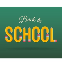 back to school pencil vector image