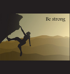 be strong vector image