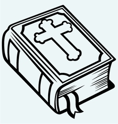 Bible book vector image