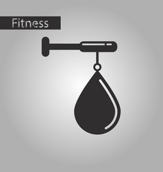 Black and white style icon punching bag vector
