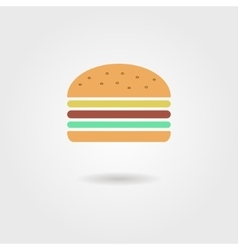 Burger icon with shadow vector