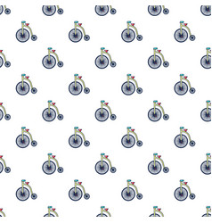 circus bicycle pattern seamless vector image