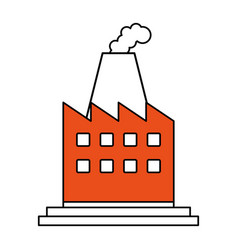Color silhouette image cartoon building industrial vector