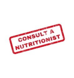 Consult a nutritionist text rubber stamp vector