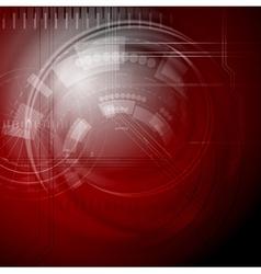 Dark red technology design vector image vector image