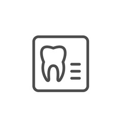 dental x-ray line icon vector image vector image
