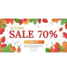 Discounts of 70 percents banner vector