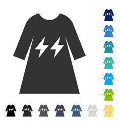 Electric energy girl dress icon vector