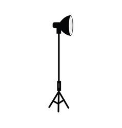 flat studio light at tripod vector image vector image
