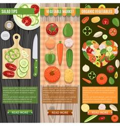 Fresh Vegetables Banners Set vector image vector image