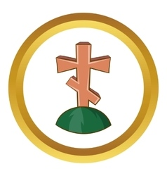 Grave cross icon vector