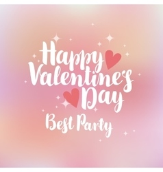 greeting card happy valentines day vector image vector image