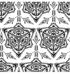 handdrawn ethnic ornamental seamless vector image vector image