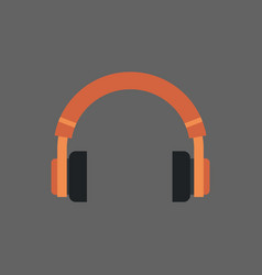 Headphones icon headset audio listening equipment vector