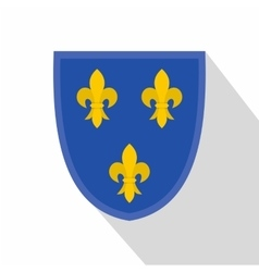 Heraldic lilies of france icon flat style vector
