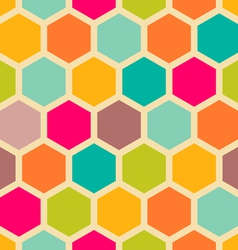 Hexagon pattern vector image vector image