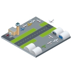 Isometric airport building airport building with vector