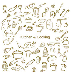 kitchen and cooking vector image