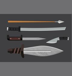 knife weapon dangerous metallic vector image vector image