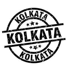 Kolkata black round grunge stamp vector