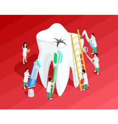 Medical dental isometric template vector