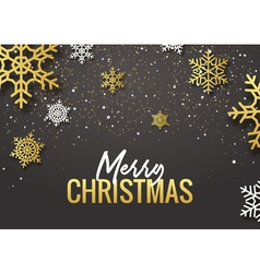 Merry Christmas poster design Retro gold vector image vector image