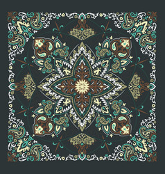 Paisley bandana print vector