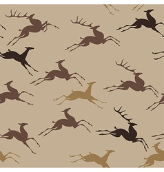 pattern deer run vector image vector image