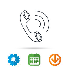 phone icon call sign vector image vector image