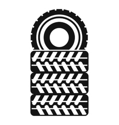 Pile of tires icon simple style vector image vector image
