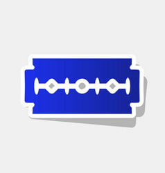 Razor blade sign new year bluish icon vector