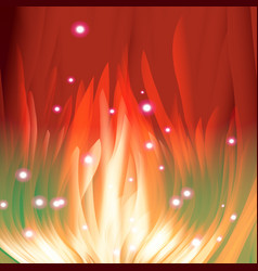 red flame tongues vector image