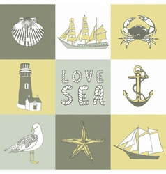 Sea coast background vector