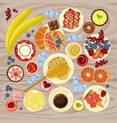 sweet menu for cofee break vector image