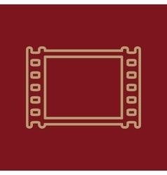 The film icon film symbol flat vector