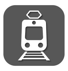 The train icon metro and tram railroad symbol vector