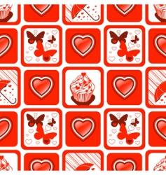 valentine wallpaper vector image