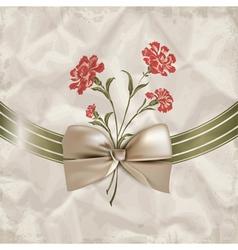 Vintage carnations background vector