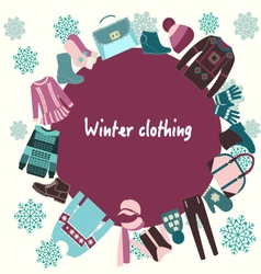 winter-clothing-Winter clothes collection vector image