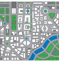 Map city2 vector image