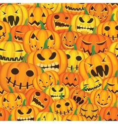 Pumpkins seamless background vector