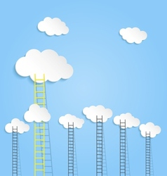 Ladders to clouds vector