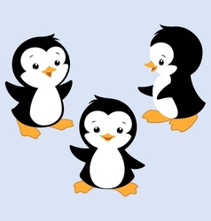 Cartoon penguin e vector