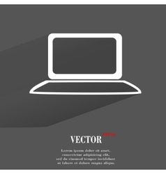 Notebook flat modern web button with long shadow vector