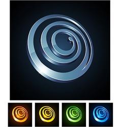 3d spiral emblems vector