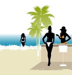 beach life vector image