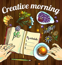 Creative morning vector