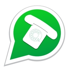 Phone icon in bubble speech vector