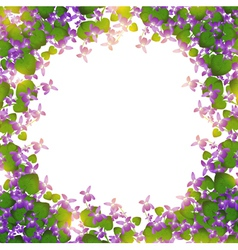 border of wild violet vector image